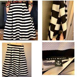 B&w striped skirt